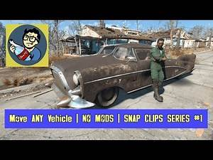Move ANY Vehicle in Settlements | Fallout 4 **NO MODS** Tips & Tricks (Snap Clips Series #1)
