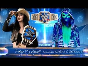 WWE 2K17 SMACKDOWN LIVE TABLE MATCH SD WOMENS TITLE MATCH PAIGE VS NAOMI