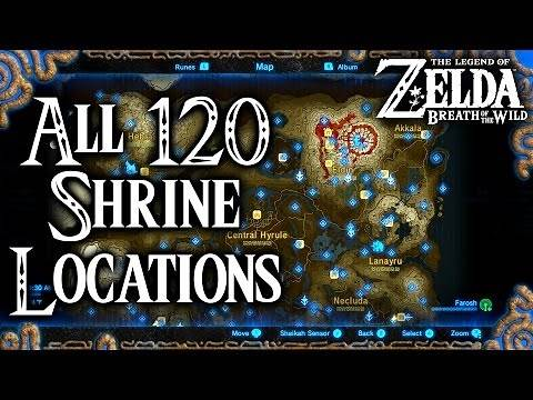 Breath of the Wild All 120 Shrine Locations (Legend of Zelda)