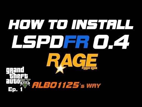 HOW TO INSTALL LSPDFR 0.4.4 & RAGEPluginHook GTA5 POLICE MOD TUTORIAL PC | Modding GTA5 Albo's Way 1