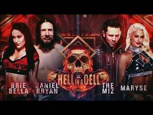 The Miz and Maryse VS Daniel Bryan and Brie Bella: WWE HELL IN A CELL 2018