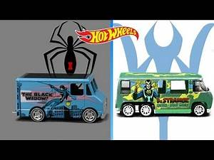 Hot Wheels Marvel The Black Widow Combat Medic & Dr. Strange GMC Motorhome from Mattel