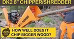 "DK2 6"" COMMERCIAL CHIPPER SHREDDER REVIEW TAKE 2 - SOME BIGGER WOOD"