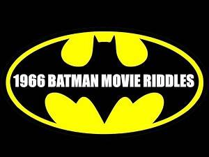 1966 Batman Movie Riddles | Movie Quiz #1