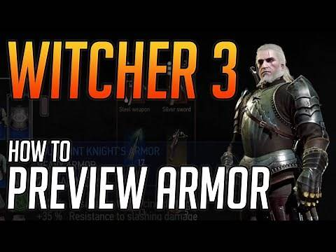 Witcher 3 How to Preview Armor Tutorial Xbox One