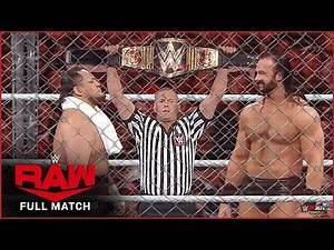 Drew Mcintyre vs. Samoa Joe : Steel Cage Match - WWE Championship : Jun 17, 2020