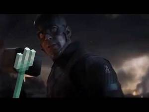 Captain America wields the Trident