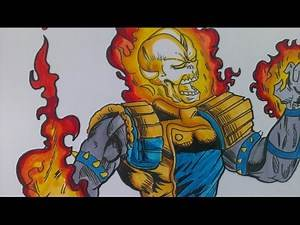 Drawing Ghost Rider, Galactic Guardians, Marvel Comics