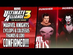 Marvel Ultimate Alliance 3 | Marvel Knights DLC Characters CONFIRMED - MUA3 Thanos & Loki Playable?