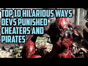 Top 10 Most Funny Ways Video Games Pirates Were Punished By Developers