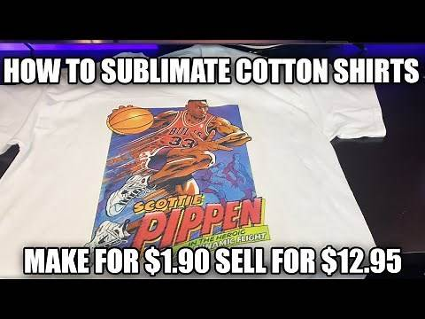 How To Make Sublimation Shirts On 100% Cotton (The Best Way To Make T-Shirts)