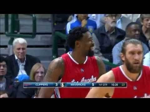 DeAndre Jordan Scores 1st Career Three Pointer