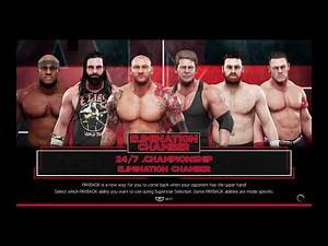 WWE 2K19 Batista VS Vince,Elias,Zayn,Lashley,Cena Elimination Chamber Match 24/7 Title