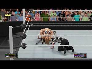 WWE 2K17_Trish Stratus vs. Eve Torres_No Holds Barred Bikini match