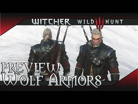 All Witcher 3 Wolf Armor Preview