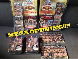 TOPPS WWE SLAM ATTAX 10TH EDITION MEGA OPENING LOOKING FOR MEMORABILIA CARDS