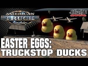 American Truck Simulator Easter Egg Hunt #1 Truckstop Ducks