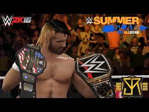 WWE 2K16 in History: Seth Rollins becomes WWE & United States Champion! (Summerslam 2015)