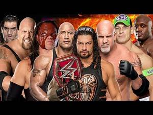 Reigns vs Cena vs Big Show vs The Rock vs Kane vs Khali vs Lashley vs Goldberg