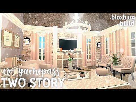 No Gamepass Two Story Home | Bloxburg | Roblox
