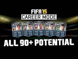 FIFA 15   ALL 90 POTENTIAL PLAYERS IN CAREER MODE!