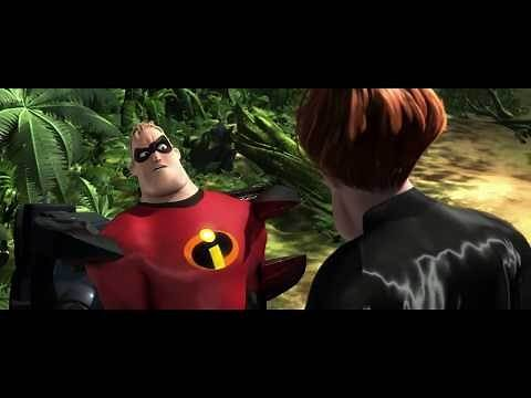 Mr. Incredible meets Syndrome scene Full HD