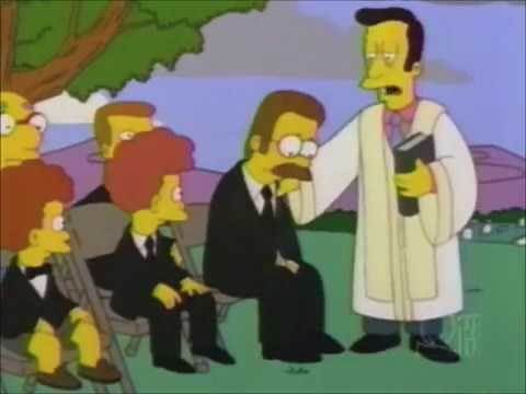 The Simpsons: Maude Flanders Death Scene Funeral