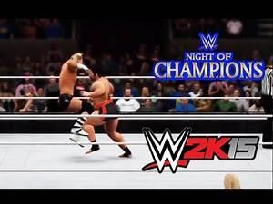 WWE Night of Champions 2015 - Dolph Ziggler vs Rusev Full Match Highlights [WWE2K15]