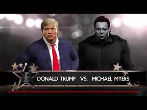 WWE 2K17 Michael Myers VS Donald Trump In A Steel Cage Match