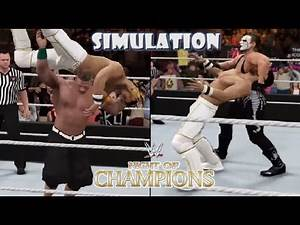 WWE 2K16 SIMULATION: Seth Rollins vs John Cena / Sting   Night Of Champions 2015 Highlights