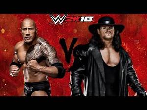 WWE 2K18 The Rock vs The Undertaker