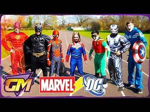 Marvel Vs DC - Who Is The Best? | Gorgeous Movies Kids Parody