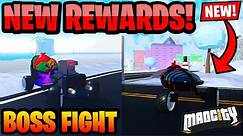Mad City Boss Fight Rewards And How to Beat (Mad City New Boss Fight Vehicles) *Roblox*