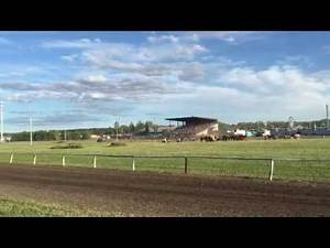 Horse race in Prince Albert exhibition SK Canada