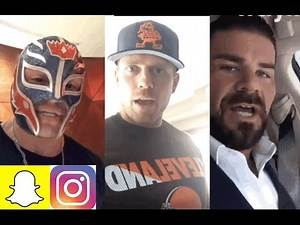 WWE Snapchat/IG Moments ft. Rey Mysterio, Bobby Roode, Mickie James, Miz n MORE