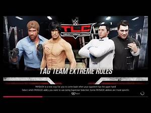 Bruce Lee & Chuck Norris vs. Jet Li & Jackie Chan (WWE 2k19) - CPU vs. CPU - Wrestlemania 🤘🏼