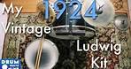 My 1924 Vintage Ludwig Drum Set! | Drum Beats Online