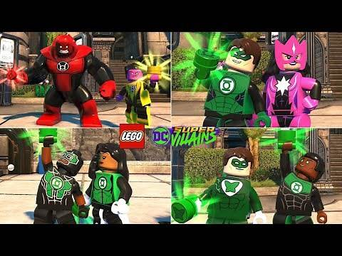 All Green Lantern Characters in LEGO DC Super Villains