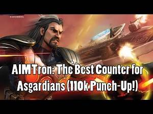 AIMTron: The Best Counter for Asgardians! (110k Punch Up in War!) - Marvel Strike Force