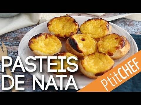 Recette de Pasteis de nata, dessert portugais - Ptitchef.com