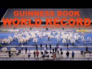 SETTING A WORLD RECORD LARGEST GAME OF BUBBLE SOCCER!