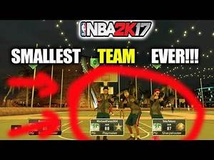 SMALLEST TEAM EVER!! MIDGET DROPS DEFENDER AND BODIES HIM!!!-NBA 2K17 MYPARK DR 2K X Michael Force