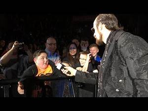 Fan tunes out Aiden English in Nottingham, England
