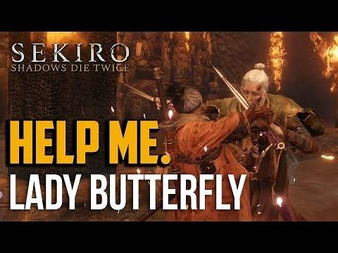 Sekiro : How to Beat Lady Butterfly Boss (Easy Cheese Method)