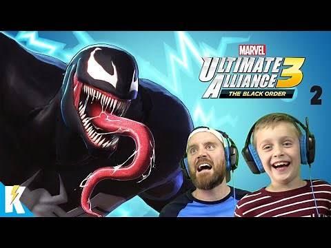 Electric Venom!! Marvel Ultimate Alliance 3 Part 2 (Spider-Man Joins!) K-City GAMING