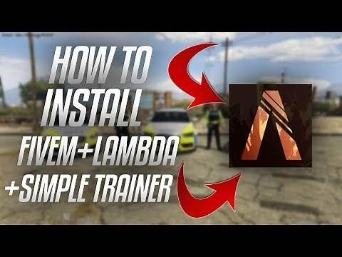 How To Install GTA 5 RP/FiveM & Lambda Menu Simple Trainer