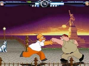 D_N Mugen: Peter Griffin vs Homer Simpson