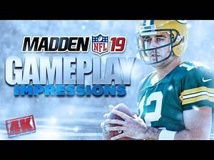Madden 19 Gameplay Impressions [4K] - Packers vs Niners