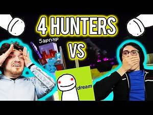 Minecraft, but we react to Dream in Speedrunner VS 4 Hunters...