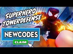 *NEW GAME + CODES* Superhero Tower Defense MIGHT BE THE BEST! - Roblox